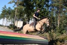 Mathias og ponnien Bella på weekendkurs
